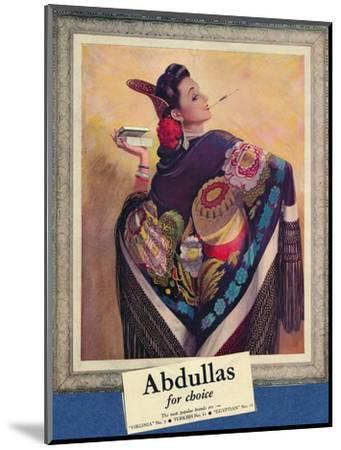 'Abdullas for choice', c1945-Unknown-Mounted Giclee Print