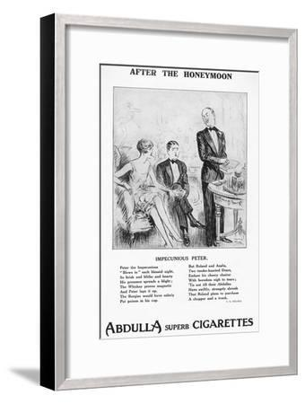 'After the Honeymoon - ''Impecunious Peter', 1927-Unknown-Framed Giclee Print