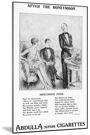 'After the Honeymoon - ''Impecunious Peter', 1927-Unknown-Mounted Giclee Print