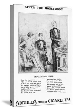 'After the Honeymoon - ''Impecunious Peter', 1927-Unknown-Stretched Canvas Print