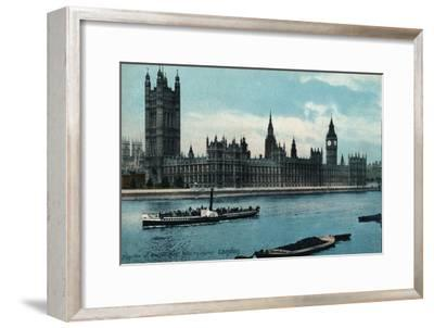 'Houses of Westminster, London', 1907, (c1900-1930)-Unknown-Framed Giclee Print