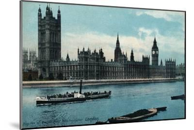 'Houses of Westminster, London', 1907, (c1900-1930)-Unknown-Mounted Giclee Print