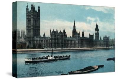 'Houses of Westminster, London', 1907, (c1900-1930)-Unknown-Stretched Canvas Print