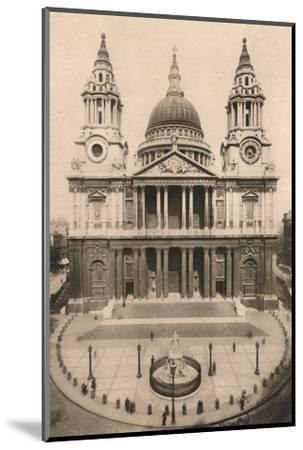'London, St. Paul's Cathedral', 1924, (c1900-1930)-Unknown-Mounted Photographic Print