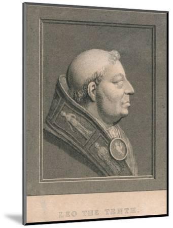 Pope Leo X (1475-1521), born Giovanni di Lorenzo de' Medici, c1830-Unknown-Mounted Giclee Print