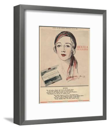 'Abdulla Geography - Riviera', 1934-Unknown-Framed Giclee Print