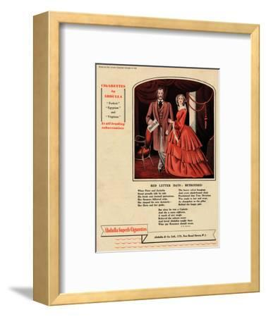 'Cigarettes by Abdulla - Red Letter Days: Betrothed', 1938-Unknown-Framed Giclee Print