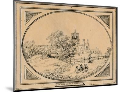 'Abbey Church, St. Albans', 1782-Unknown-Mounted Giclee Print