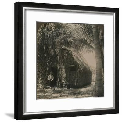 'Thatched Cottage in Cocoanut Grove, Florida, U.S.A.', c1900-Unknown-Framed Photographic Print