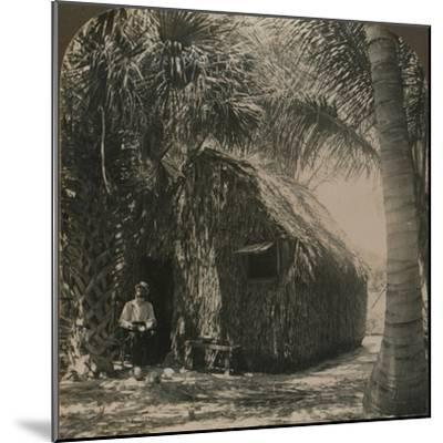 'Thatched Cottage in Cocoanut Grove, Florida, U.S.A.', c1900-Unknown-Mounted Photographic Print