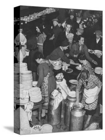 'The People Rally To The People's Need: Clydeside Feeds Its Homeless', 1941 (1942)-Unknown-Stretched Canvas Print