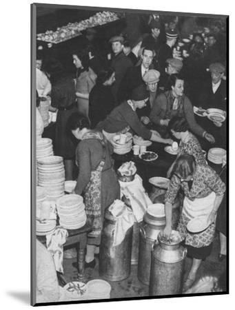 'The People Rally To The People's Need: Clydeside Feeds Its Homeless', 1941 (1942)-Unknown-Mounted Photographic Print