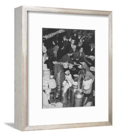'The People Rally To The People's Need: Clydeside Feeds Its Homeless', 1941 (1942)-Unknown-Framed Photographic Print