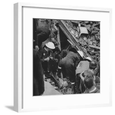 'The search goes on', 1941 (1942)-Unknown-Framed Photographic Print