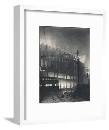 'Nine Hours of Bombing. When Sheffield's turn came it was mid-winter'. 1940 (1942)-Unknown-Framed Photographic Print