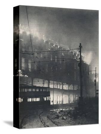'Nine Hours of Bombing. When Sheffield's turn came it was mid-winter'. 1940 (1942)-Unknown-Stretched Canvas Print