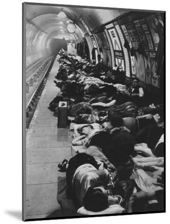 'Those who went to shelters began a new kind of night-life, 11th November, 1940', 1942-Unknown-Mounted Photographic Print