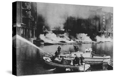 'The Firemen Were At The Forefront Of Danger', 1941 (1942)-Unknown-Stretched Canvas Print