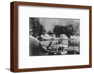 'The Firemen Were At The Forefront Of Danger', 1941 (1942)-Unknown-Framed Photographic Print