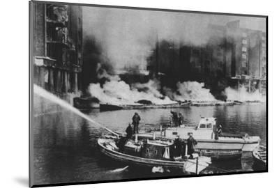 'The Firemen Were At The Forefront Of Danger', 1941 (1942)-Unknown-Mounted Photographic Print