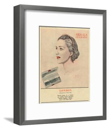 'Abdulla Geography - London', 1941-Unknown-Framed Giclee Print