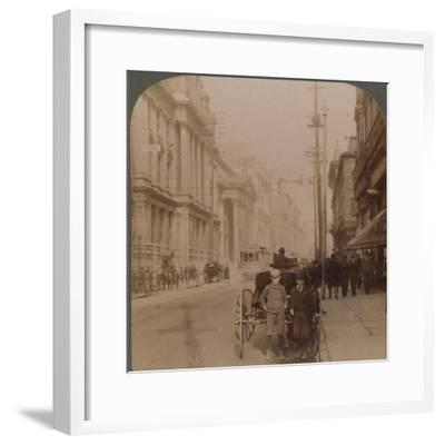 'St. James Street, Montreal, Canada', 1900-Unknown-Framed Photographic Print