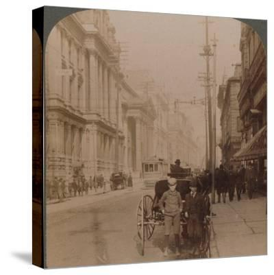 'St. James Street, Montreal, Canada', 1900-Unknown-Stretched Canvas Print