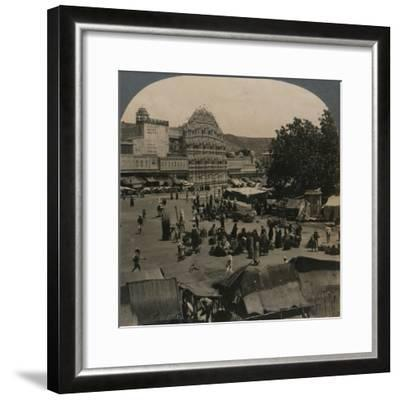 'Palace of the Winds from Shiva Temple, Jeypore, India', 1902-Unknown-Framed Photographic Print