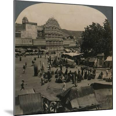 'Palace of the Winds from Shiva Temple, Jeypore, India', 1902-Unknown-Mounted Photographic Print