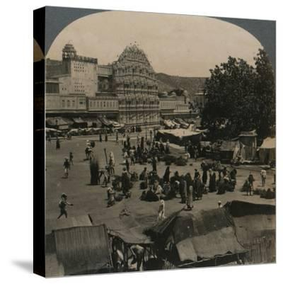 'Palace of the Winds from Shiva Temple, Jeypore, India', 1902-Unknown-Stretched Canvas Print