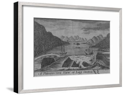 'A Perspective View of Lake George', c18th century-Unknown-Framed Giclee Print
