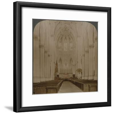 'Interior finest Gothic structure in U.S. - St. Patrick's Cathedral, New York', c1900-Unknown-Framed Photographic Print