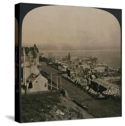 'Dufferin Terrace, Old Town and St. Lawrence River from the Citadel, Quebec, Canada', 1906-Unknown-Stretched Canvas Print