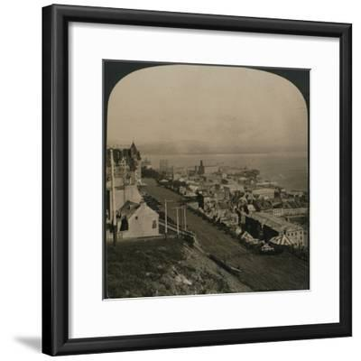 'Dufferin Terrace, Old Town and St. Lawrence River from the Citadel, Quebec, Canada', 1906-Unknown-Framed Photographic Print