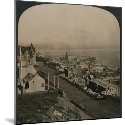 'Dufferin Terrace, Old Town and St. Lawrence River from the Citadel, Quebec, Canada', 1906-Unknown-Mounted Photographic Print