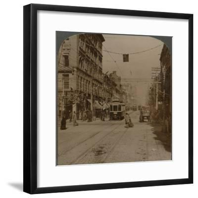 'Yonge St., looking north from King St., the busy center of Toronto, Canada', 1904-Unknown-Framed Photographic Print