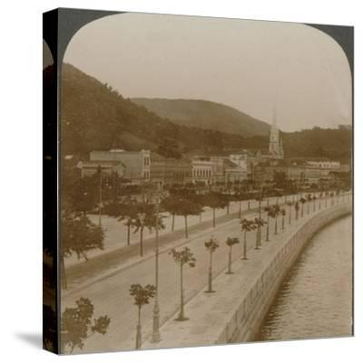 'Rio Janeiro's 5 mile quay, encircling world's largest land-locked bay', c1900-Unknown-Stretched Canvas Print