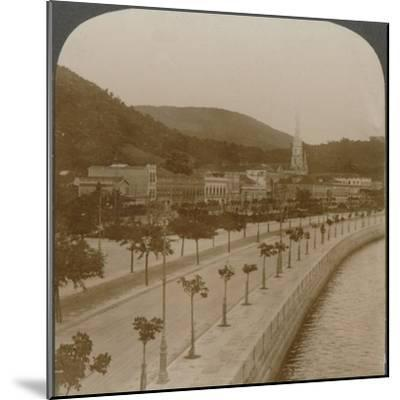 'Rio Janeiro's 5 mile quay, encircling world's largest land-locked bay', c1900-Unknown-Mounted Photographic Print