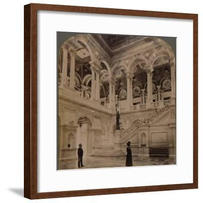 'Decorative splendors of the Entrance Hall of the great Congressional Library, Washington, U.S.A.'-Unknown-Framed Photographic Print