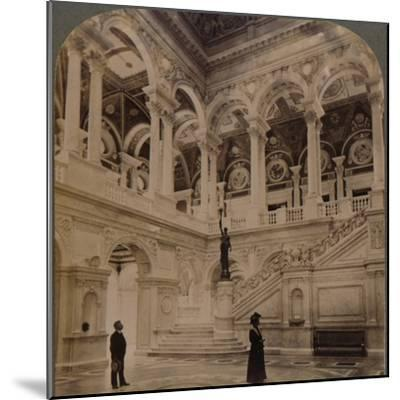 'Decorative splendors of the Entrance Hall of the great Congressional Library, Washington, U.S.A.'-Unknown-Mounted Photographic Print