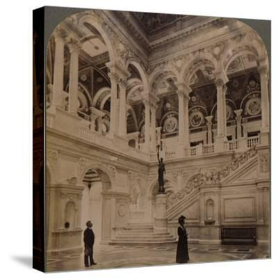 'Decorative splendors of the Entrance Hall of the great Congressional Library, Washington, U.S.A.'-Unknown-Stretched Canvas Print
