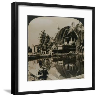 'Isuruminiya, an ancient and picturesque rock temple in the heart of Ceylon', 1907-Unknown-Framed Photographic Print
