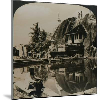 'Isuruminiya, an ancient and picturesque rock temple in the heart of Ceylon', 1907-Unknown-Mounted Photographic Print