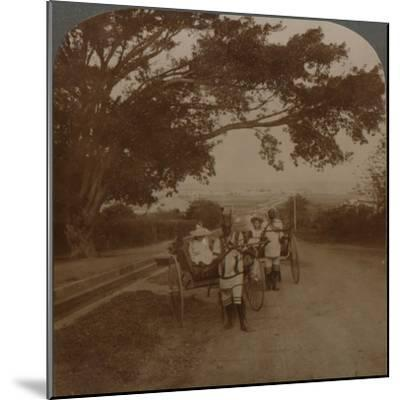 Cabs drawn by natives on a residence road, Durban, S. Africa', c1900-Unknown-Mounted Photographic Print