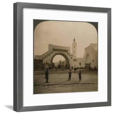 'Bab el-Hathera, Tunis, Tunis', 1901-Unknown-Framed Photographic Print