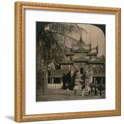 'The Queen's Golden Monastery, a gem of oriental architecture, Mandalay, Burma', 1907-Unknown-Framed Photographic Print