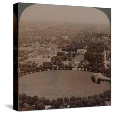 'From Washington Monument (N.), the White House, Treasury and State Department, Washington, U.S.A.'-Unknown-Stretched Canvas Print