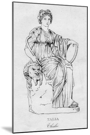 'Talia (Thalie)', c1850-Unknown-Mounted Giclee Print