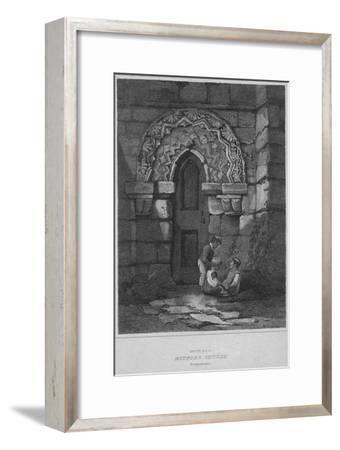 'South Door - Mitford Church, Northumberland', 1814-John Greig-Framed Giclee Print