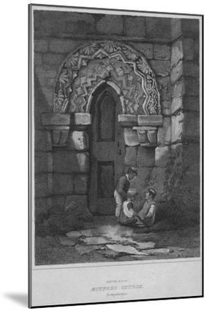 'South Door - Mitford Church, Northumberland', 1814-John Greig-Mounted Giclee Print